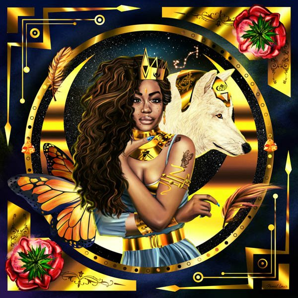One of my favorite pieces from my Royalty Art Series Collection. @sza #tde #queen #art https://t.co/9CJNUNP8mT https://t.co/IOLPK0ENeL
