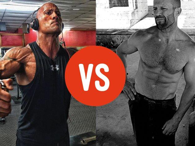 A true clash of the titans: The Rock VS Jason Statham