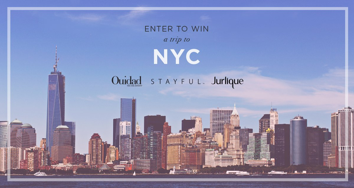 Want to visit #NYC? Enter for chance to win a getaway from #Ouidad, @JurliqueUSA & @stayful! https://t.co/C56tqNWiol https://t.co/HomKIYFbli