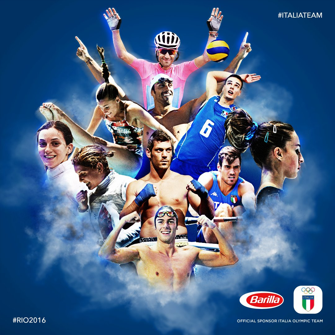 L'@ItaliaTeam_it è pronto per l'Olimpo! Coraggio ragazzi, siamo tutti con voi!