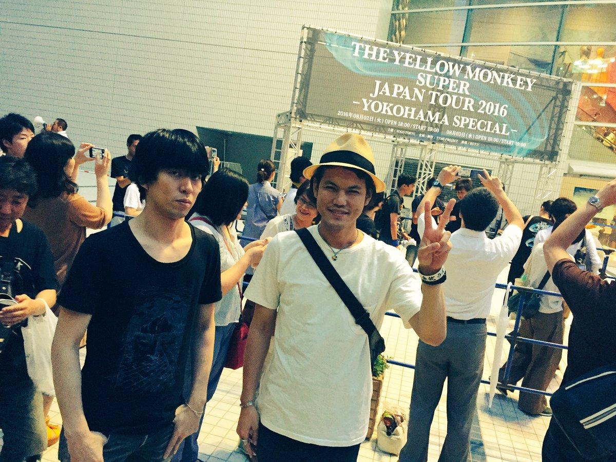 昨日、卓郎と和彦はTHE YELLOW MONKEYのライブを観に行きました! 最高のステージを堪能…