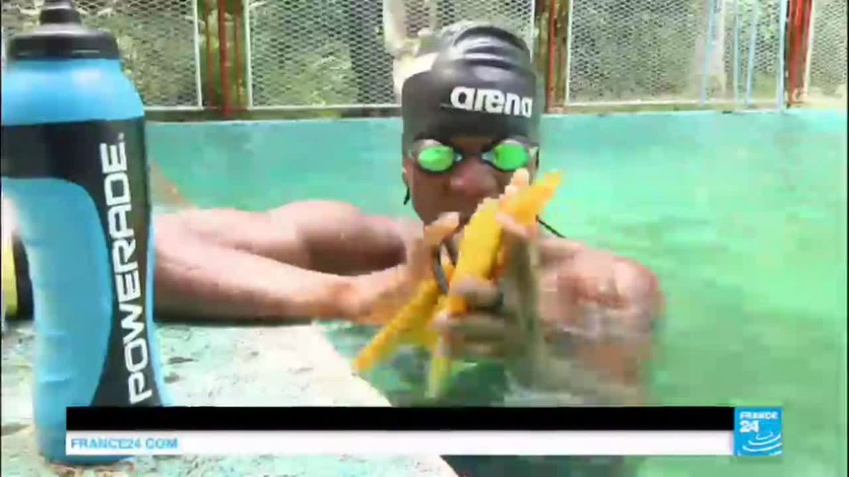 VIDEO -  Rio 2016: Haitian swimmer overcomes challenges without Olympic training pool