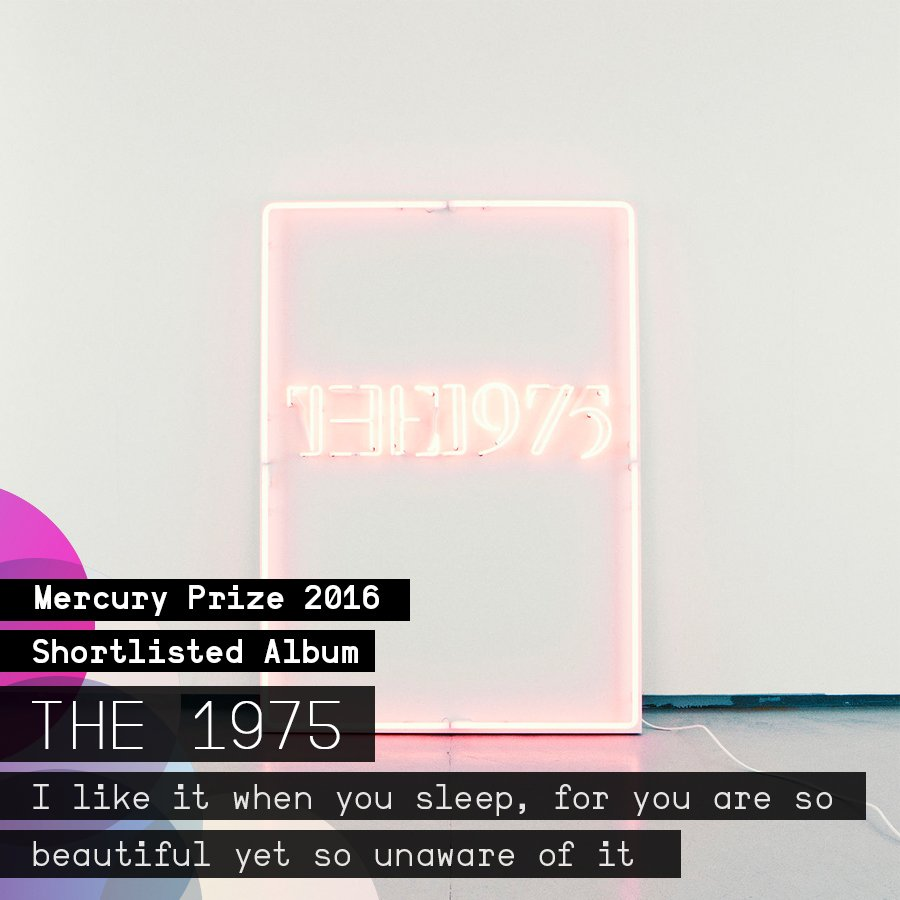 Hands up if you're proud of @the1975 for making the #MercuryPrize albums of the year shortlist! 🙌 🙌 https://t.co/i1ioO8pdKm
