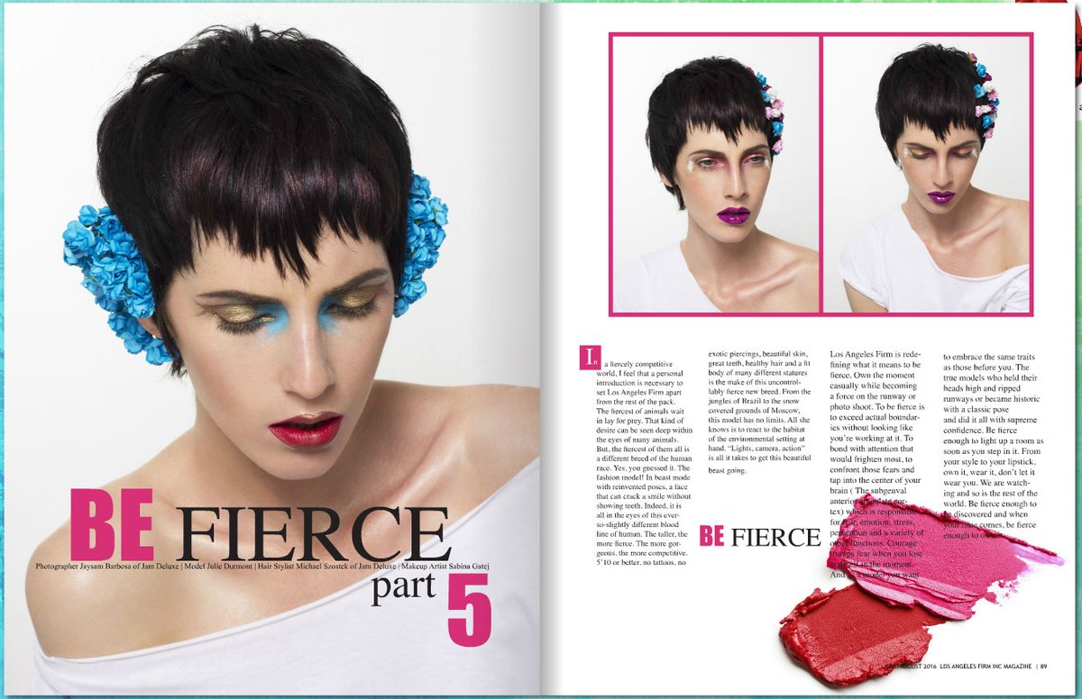 @Jam_Deluxe Pop Of Colour in @LAFIRMINC Mag #photo @jaysambarbosa #hair @mimichaelSz #mup @CherryFudge #model Julie https://t.co/0CCpUNlIB7