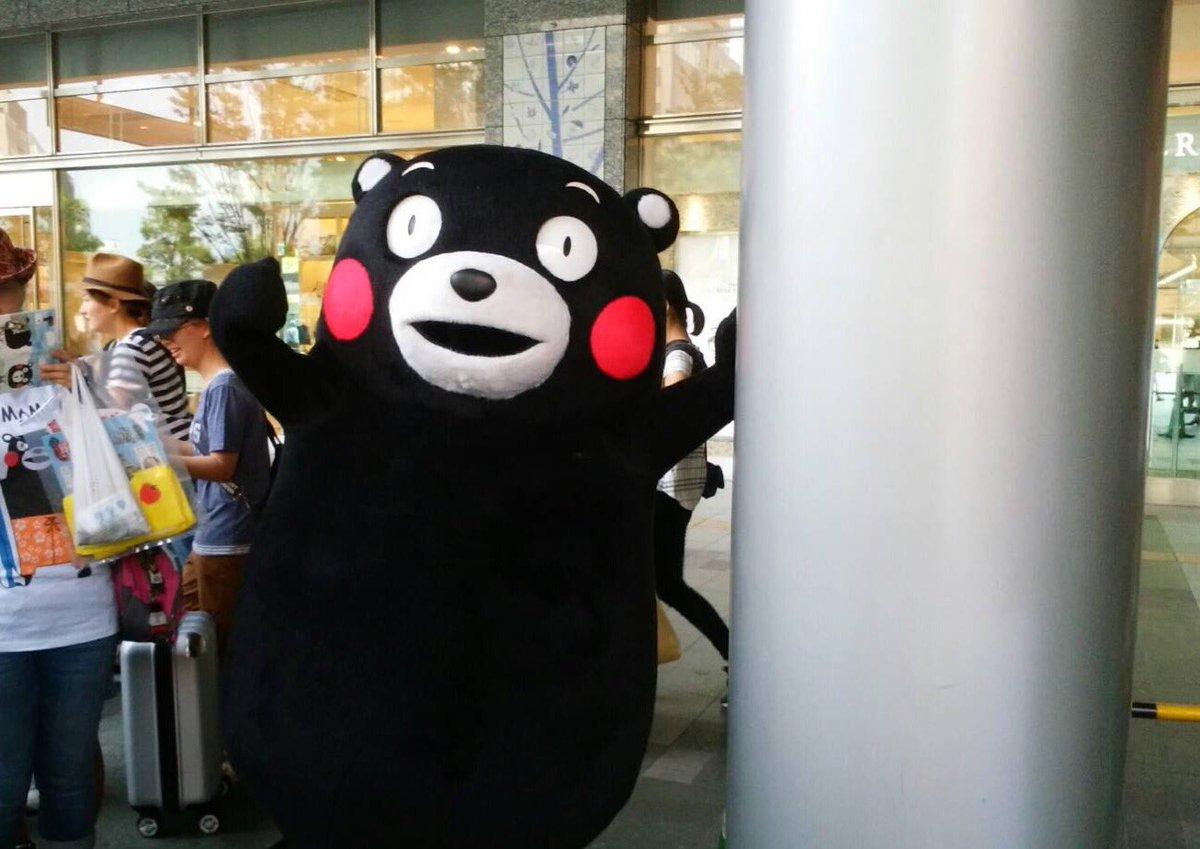 この間、博多駅で熊本の観光PRばしてきたモーン☆