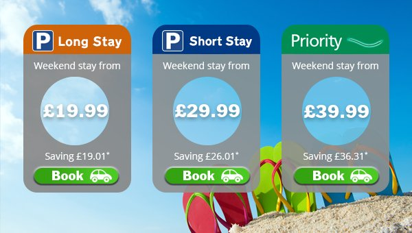 Flying this weekend?  We have the parking deal for you!  Book online for the best value: