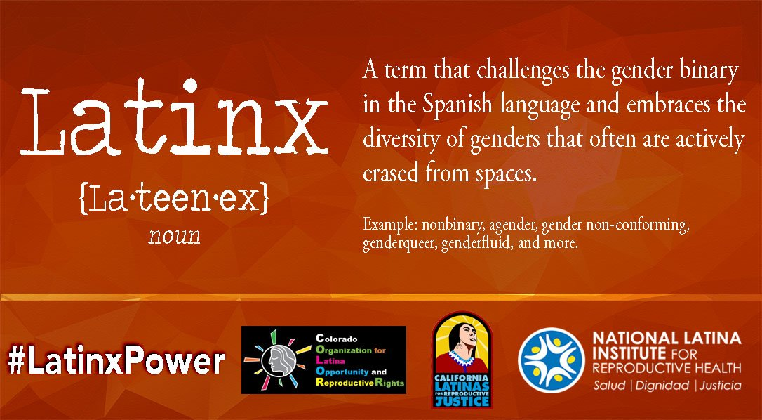 The X is not a typo! A community of diverse people deserves a term that includes everyone! #LatinxPower https://t.co/CeMqNjCvD4