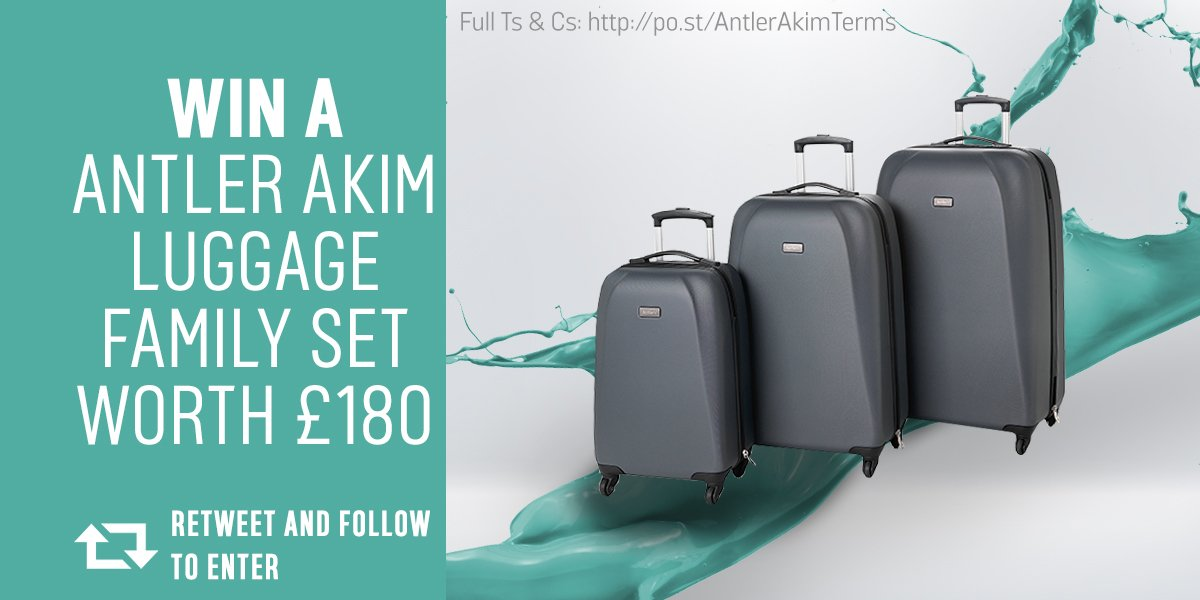 Off on your summer hols? RT to win a family set of #Antler cases! Shop our range https://t.co/u4mYOUcRXc  Ends 10/8 https://t.co/aqRfGzm13O