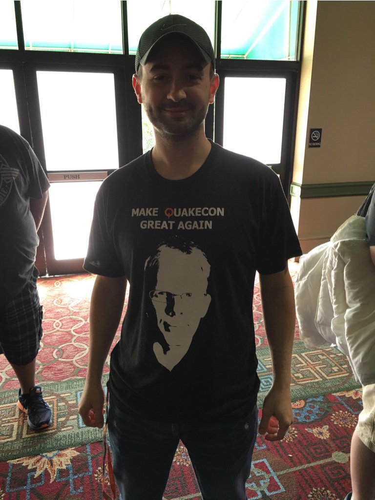 Let's Make @QuakeCon Great Again! #QuakeCon2016 @ID_AA_Carmack https://t.co/bnETHIwlpC