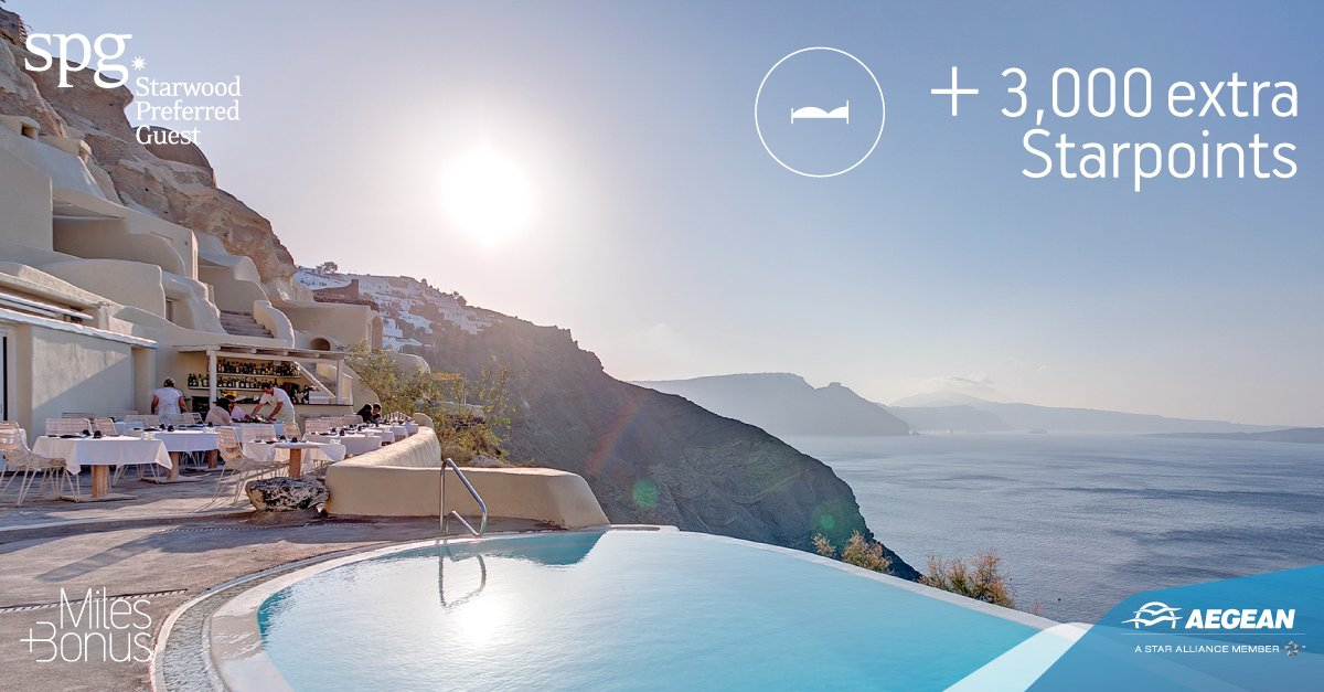 Now, you can earn 3,000 extra Starpoints at selected Starwood Hotels & Resorts in Greece!