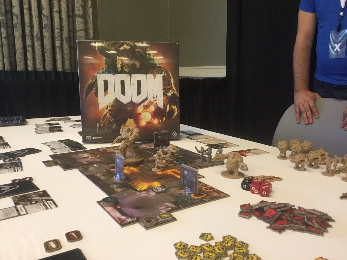 Tabletop Village is now open! Get your (tabletop) game on & preview the #DOOM game from @FFGames. #QuakeCon2016 https://t.co/3AZguP0kaZ
