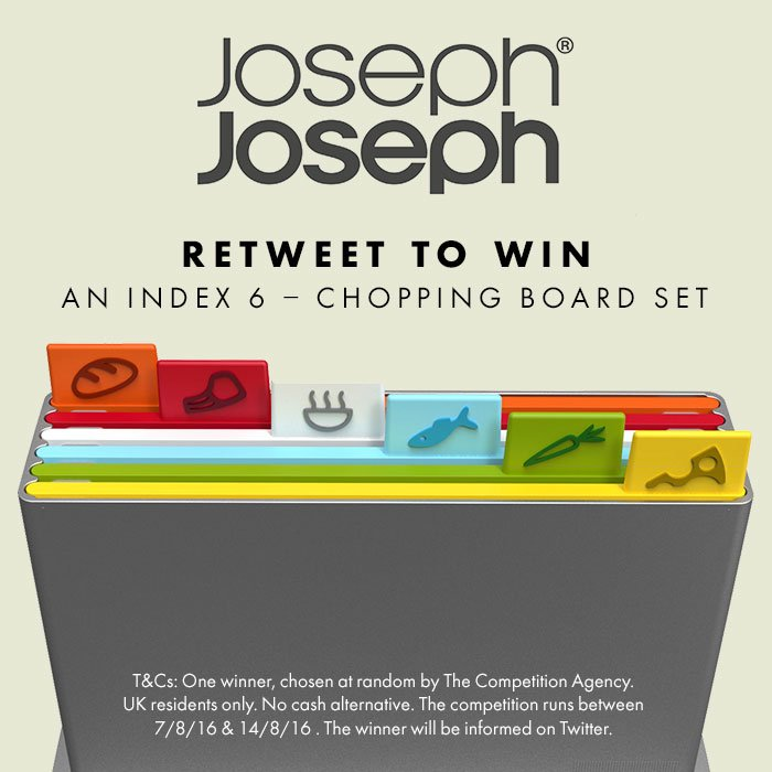 Retweet to #WIN - Its as simple as that! And why not shop Joseph Jospeh with up to 50% off https://t.co/77xQh4HyPr https://t.co/HqghbgePWc