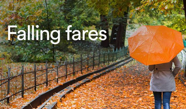 Our Fall Sale is underway with flightdeals from $49 o/w. Buy by 8/8 + terms: