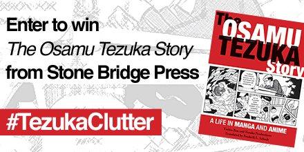 "We're giving away a copy of ""The Osamu Tezuka Story"" from @StoneBridgePub. Follow & use #TezukaClutter to enter! https://t.co/cATWpayo4j"
