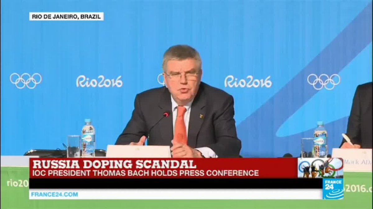 VIDEO -  Russia doping scandal: IOC president Thomas Bach holds press conference - Rio 2016