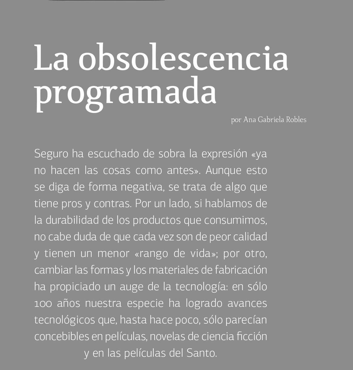 En la sección de @algarabia platicamos de la #ObsolescenciaProgramada - https://t.co/DxGFTwCBsj https://t.co/1uiMnzlBuk