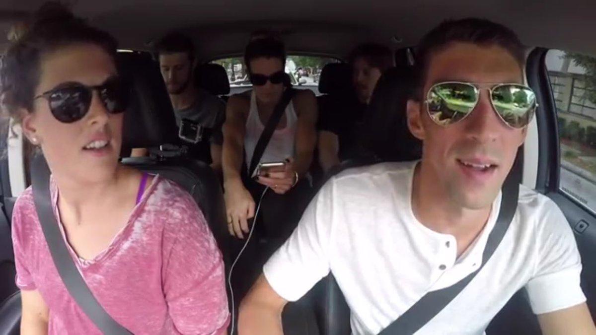 Here we go! Watch #TeamUSA having fun doing #CarpoolKaraoke #SwimUnited #FunnestSport https://t.co/L2PhVnLedj https://t.co/DvVr0bYNDS