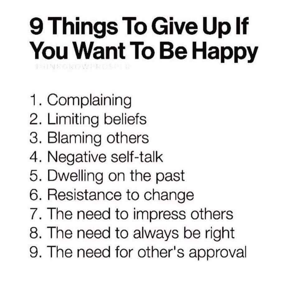 9 things to give up if you want to be happy… https://t.co/qC4VhcGRjw