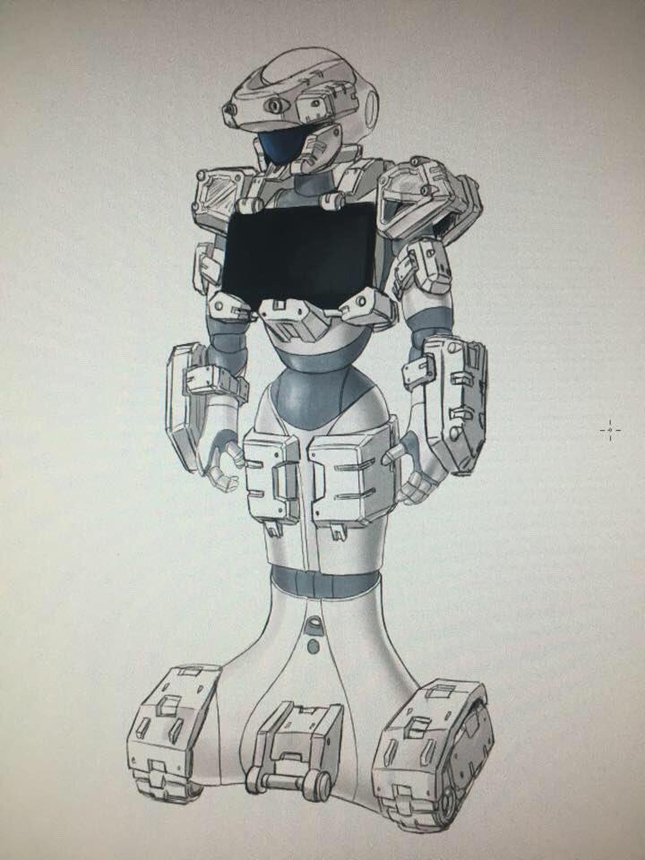 明日ビックサイトで開催される『Maiker Faire』というイベントにて、 ペッパー君に強化装甲を…