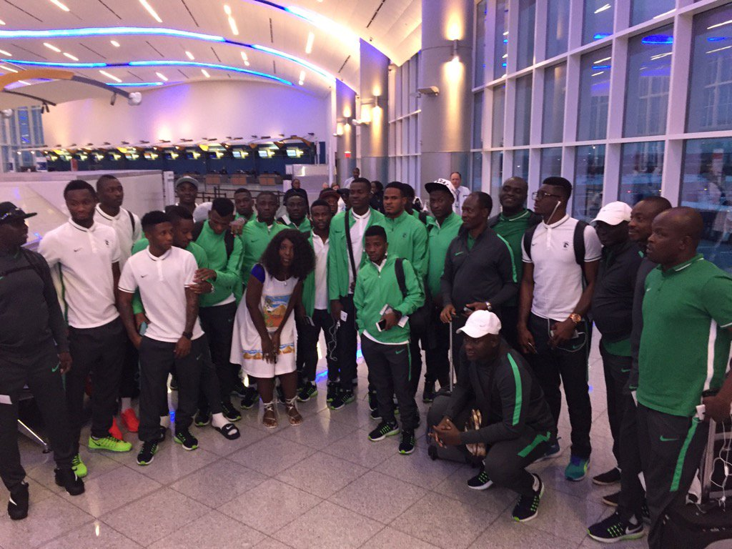 The #SuperEagles were in #ATL hours ago. Now? They're on the pitch at the #Olympics in Brazil. Best wishes, #Nigeria https://t.co/k3th2Vs2Zq