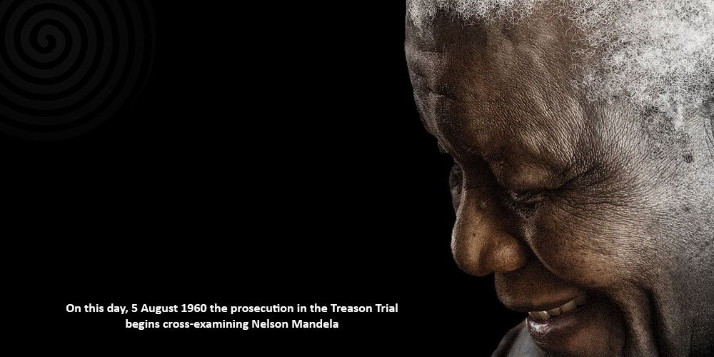 On this day, 5 August 1960 the prosecution in the Treason Trial begins cross-examining #NelsonMandela https://t.co/YYol52GrEE