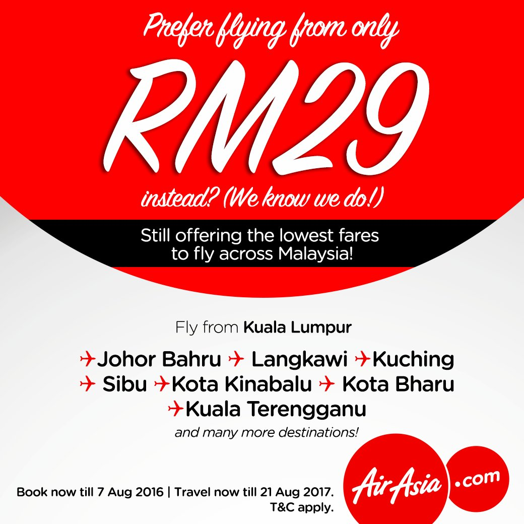 Fly across Malaysia from RM29 Alor Setar Johor Bahru Kota Bharu Kuala Terengganu  Book @