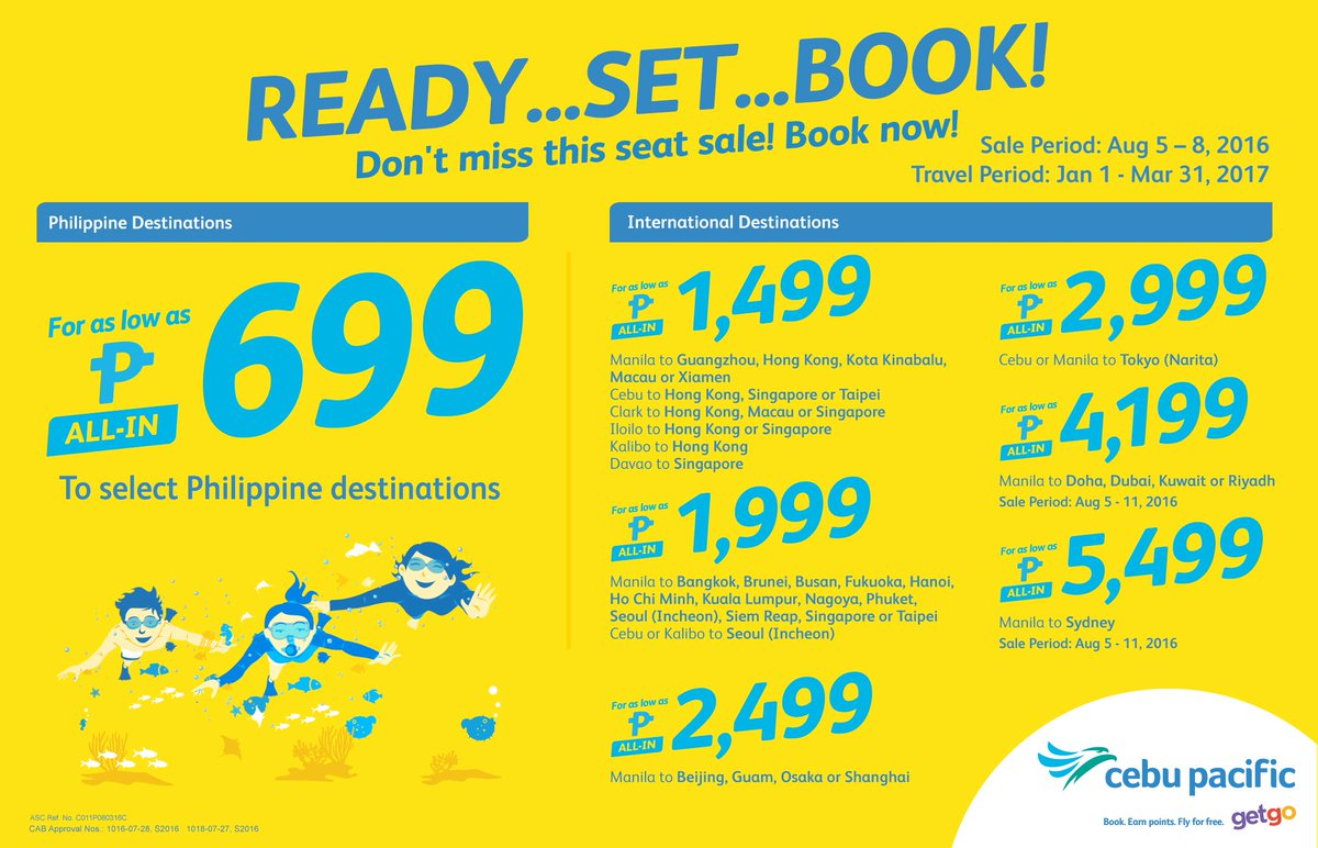Let the fun and games begin with the new CEBSeatSale! Book now at
