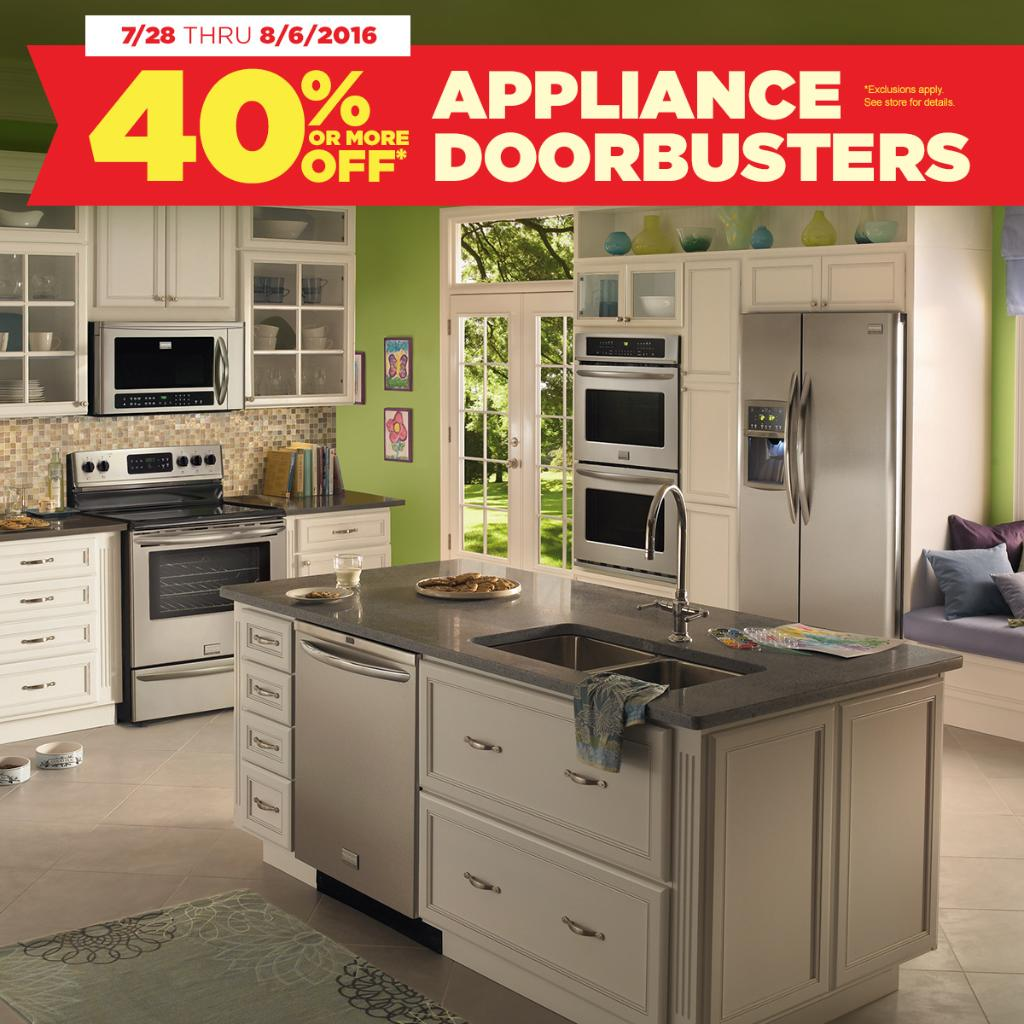 HURRY IN - LAST 2 DAYS TO SAVE! Don't miss 40% off or more on our Appliance Spectacular Doorbuster Event! https://t.co/2VXMj5CwYA