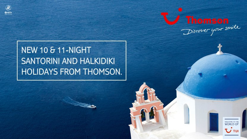 New 10 and 11 night Santorini and Halkidiki holidays from Thomson -