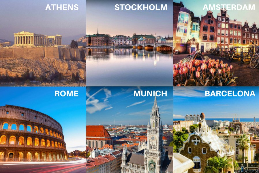 Here are 6 Summer Olympic cities that you can fly to from @STN_Airport. Where would you go?