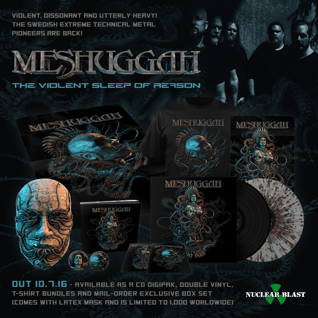 New @Meshuggah album #TheViolentSleepofReason out Oct. 7th and available for pre-order at https://t.co/dBeQiOlAUU. https://t.co/bW63RCVcQr