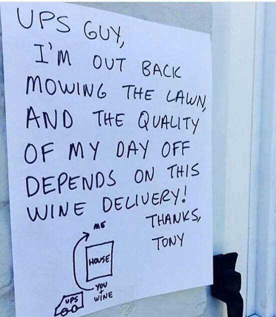 It's best to be clear w/ #wine deliveries.
