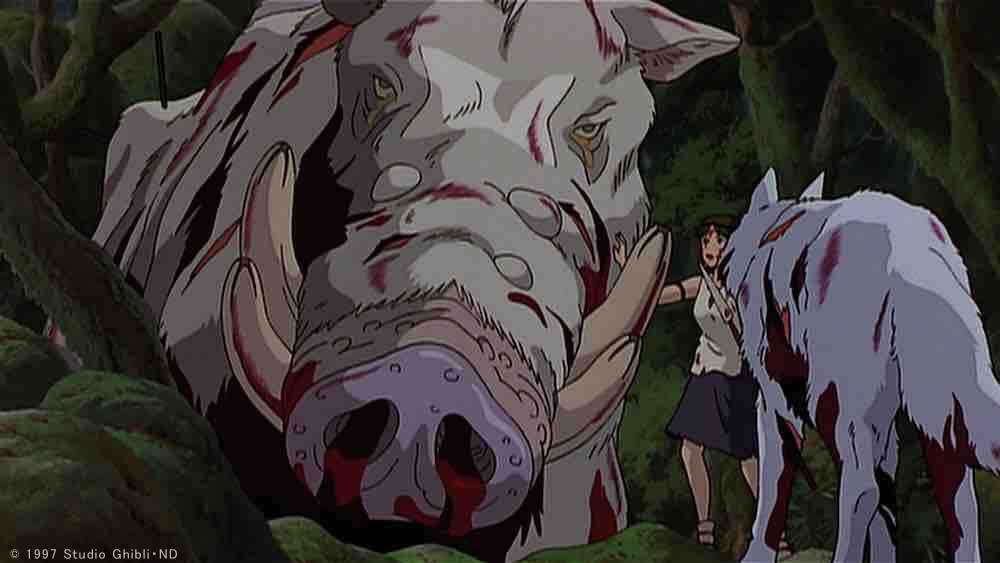 「もののけ姫」のキャラクターの名前は信州の地名からとられたそうです。「乙事」は村の名前、エボシ御前は…