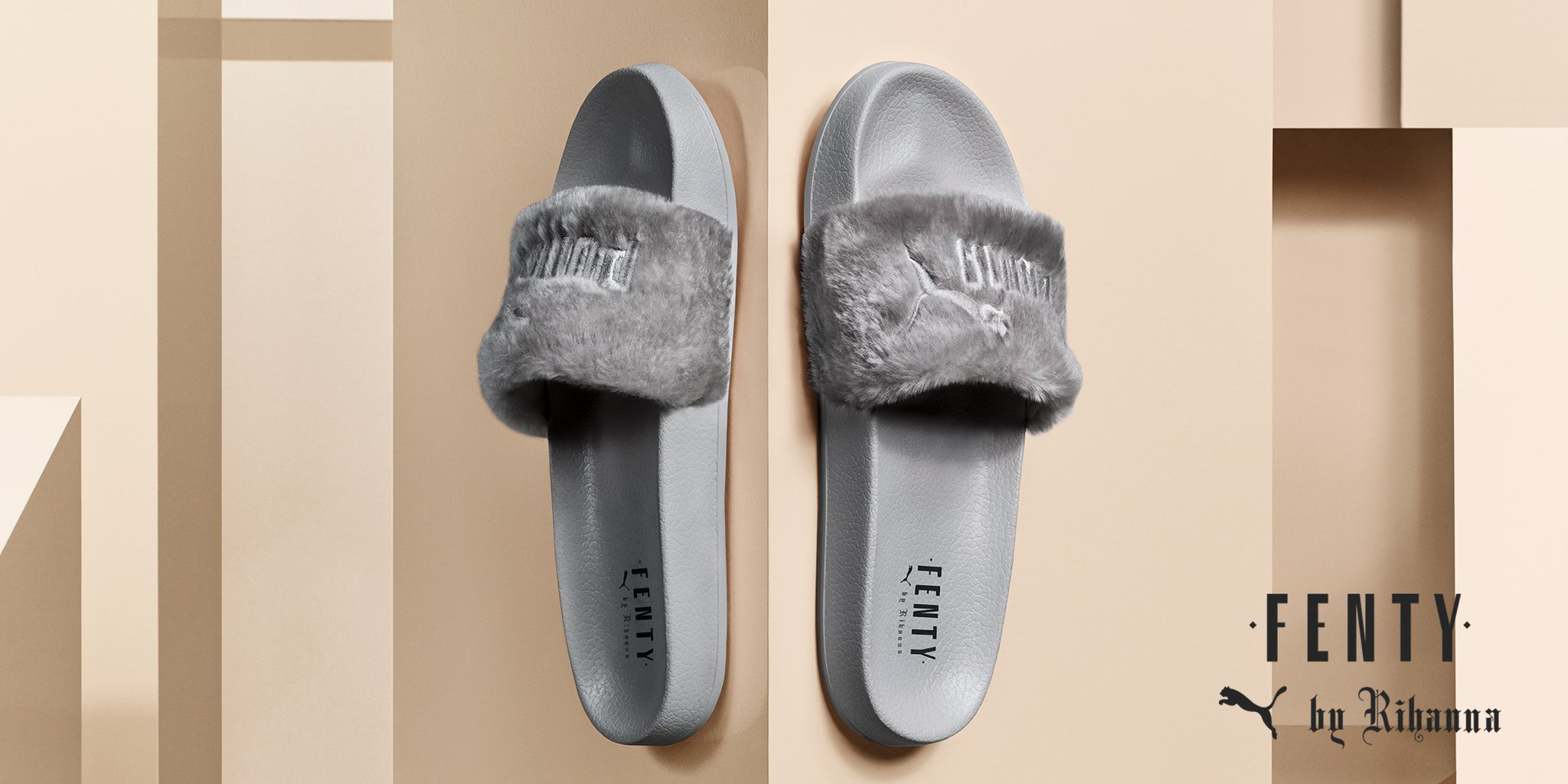 My #FENTYXPUMA FUR SLIDE is back in stock plus all new GREY color way! Get it now: https://t.co/GAkFFgYA0O https://t.co/9c3QvJYLJJ