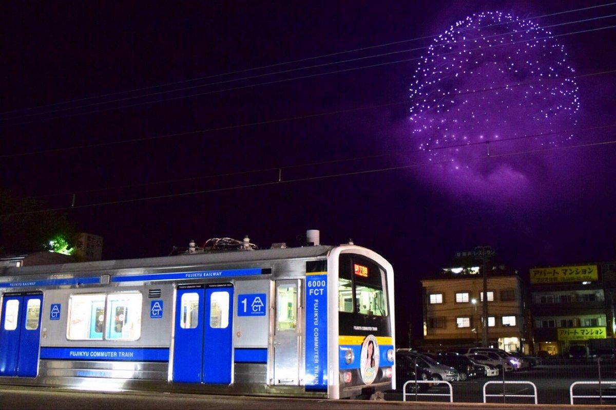 サマドリ4、0日目…じゃなく、河口湖湖上祭花火と富士急行みのり号のコラボレーション。 みのり号編成は…