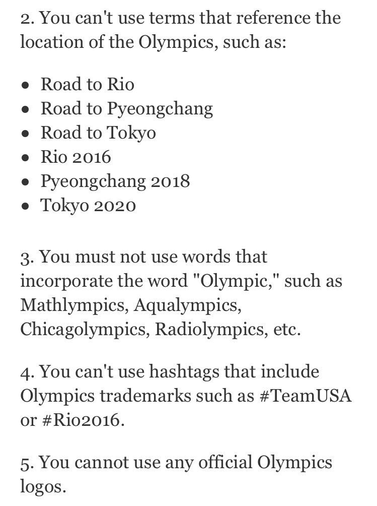 Remember Non Sponsors Are Not Allowed To Use Rio2016 Olympic Gifs