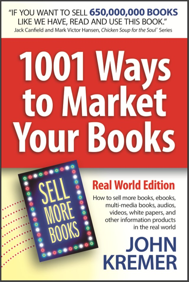 Check out the book cover for the new Real World Edition of 1001 Ways to Market Your Books! https://t.co/rNif4A4RCc https://t.co/lieJIZ3CKO