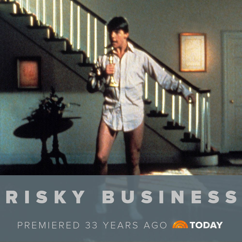 Just take those old records off the shelf because Risky Business premiered 33 years ago today
