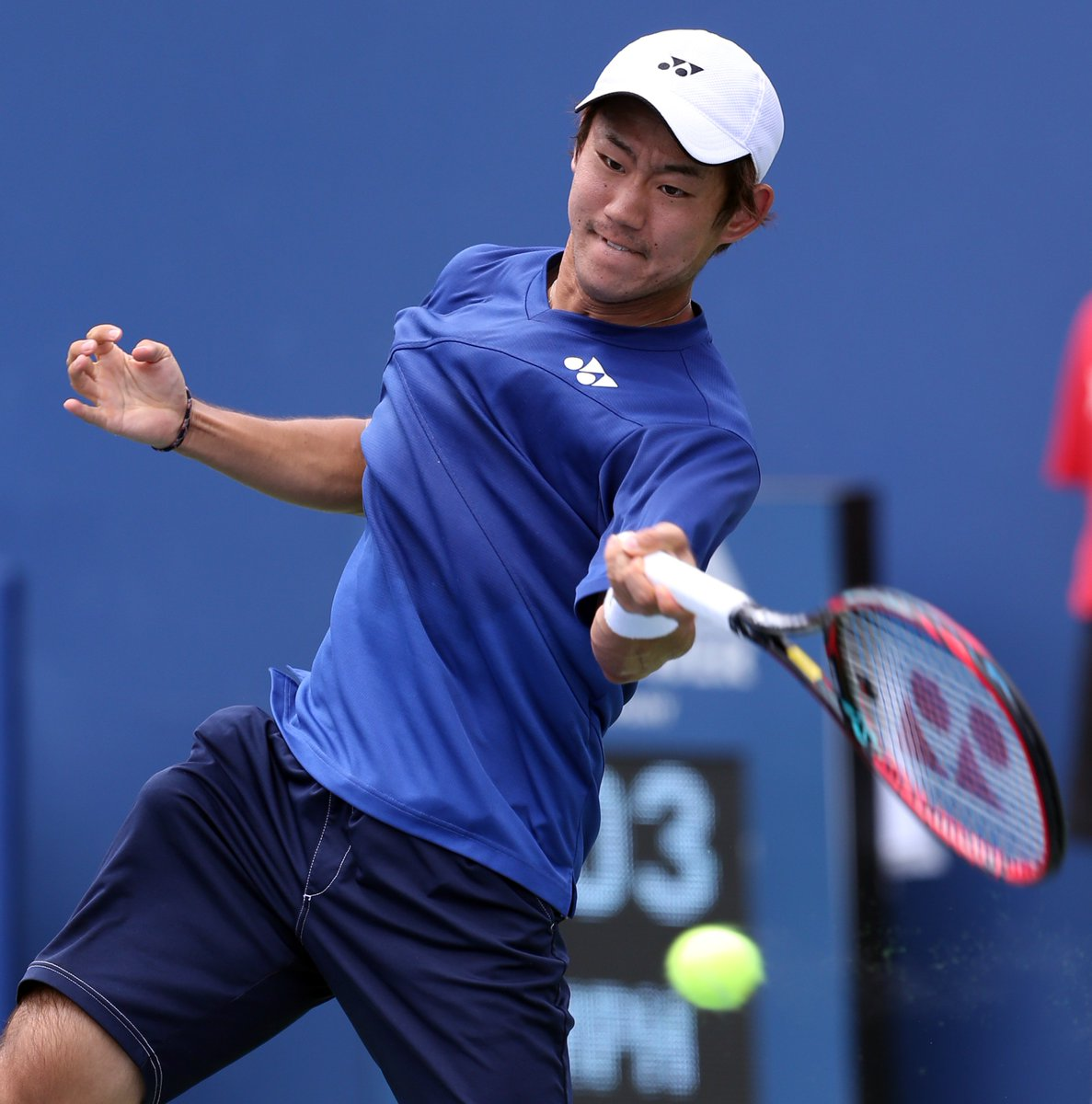 And into his 1st @ATPWorldTour SF is @yoshihitotennis after his 6-4, 6-4 win over #Zeballos. https://t.co/0mbiIXp2kJ