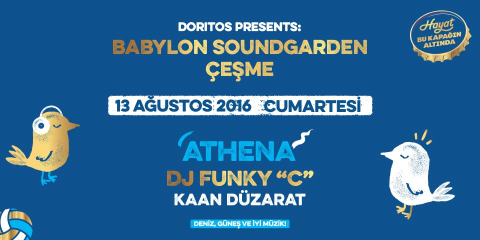 Bi' RT'ni alalım, sana çift kişilik Doritos Presents: @SoundgardenFest Çeşme davetiyesi verelim! #bukapaginaltinda https://t.co/4m0dM94vQS