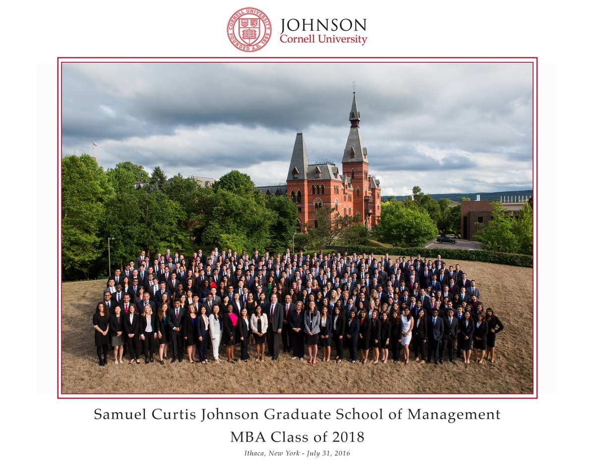 Introducing the #CornellMBA Class of 2018! Welcome to all! #MBA #beginning #leadership https://t.co/Vxsvfmz1R4