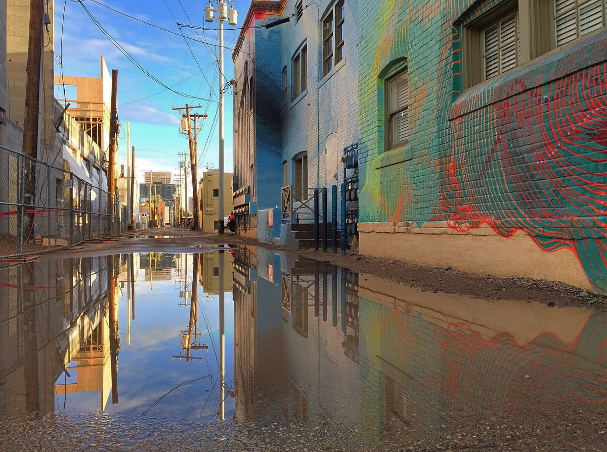 All the pretty puddles #dtphx https://t.co/rWNHvtfbyX
