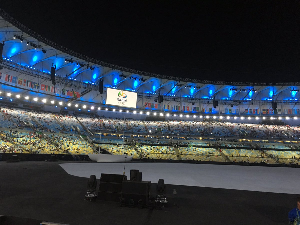 開会式まであと少し!!!#OpeningCeremony #オリンピック #リオ2016