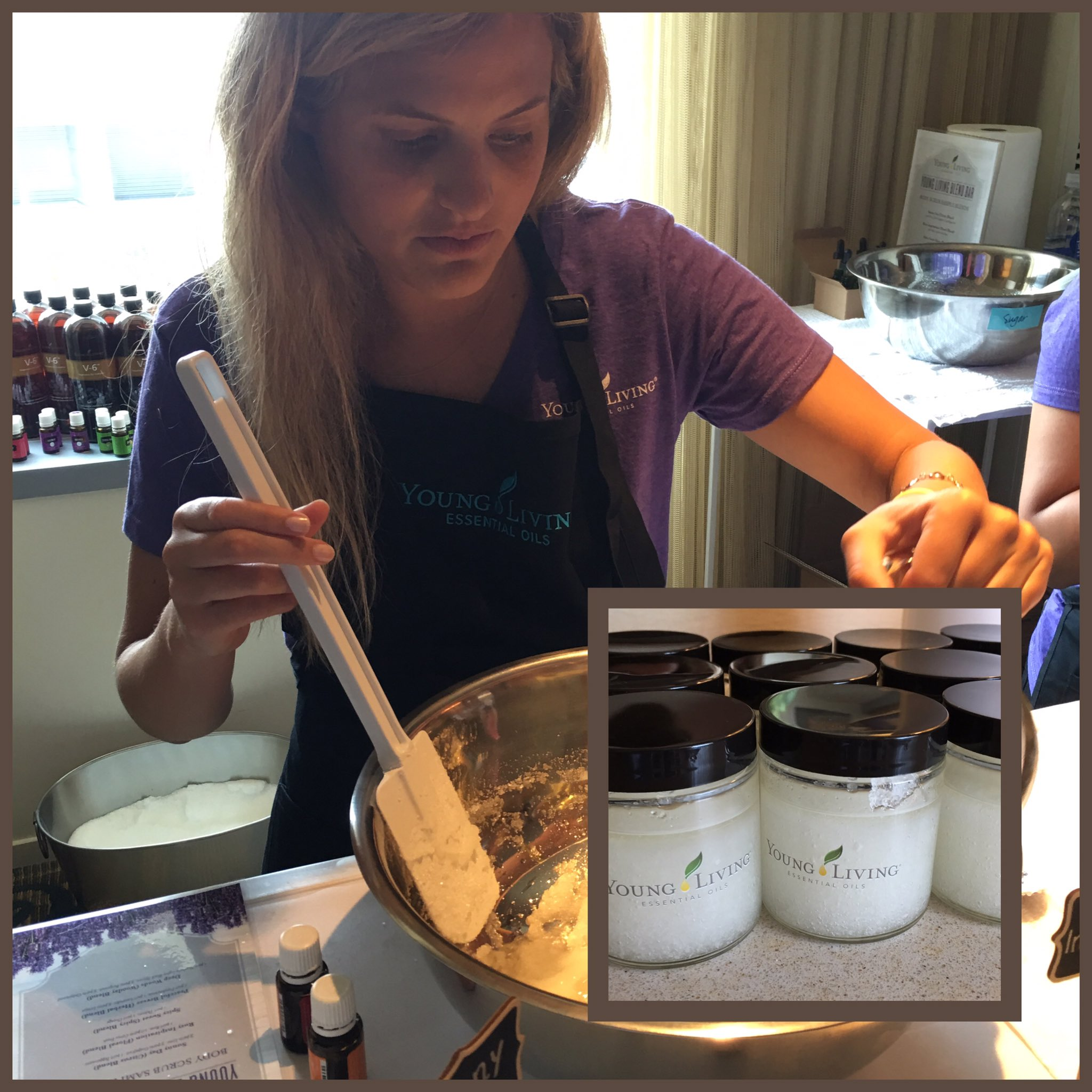 Create your own scrub (and more!) with @younglivingeo in suite 748. #blogher16 https://t.co/h9EDl6h9xj