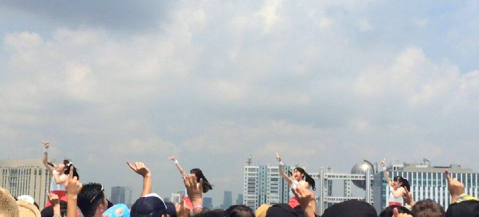 8/5「TOKYO IDOL FESTIVAL2016」セトリ①  🌻SKY STAGE  overture 1.ドットアオゾラ 2.おひさまスプラッシュ! 3.からっと☆晴れたね!  #TIF2016  #フルフルポケット https://t.co/aAbH8iPqVl
