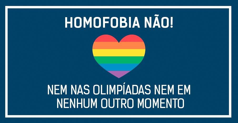 Pela diversidade: homofobia não! @Rio2016 #OpeningCeremony https://t.co/R0lQZqkpLX