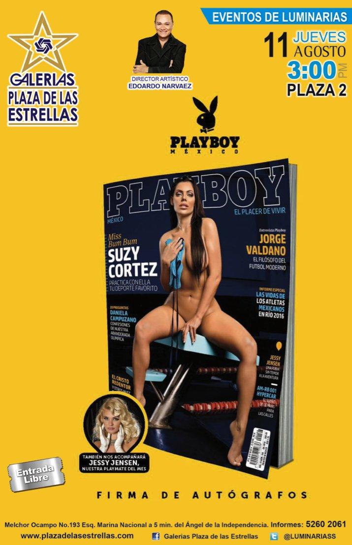 RT @luminariass: ¡Caballeros! Próximo Jueves 11 de Agosto de la revista PLAYBOY la sensual Modelo Brasileña SUZY CORTEZ 3:00pmPLAZA 2 https…