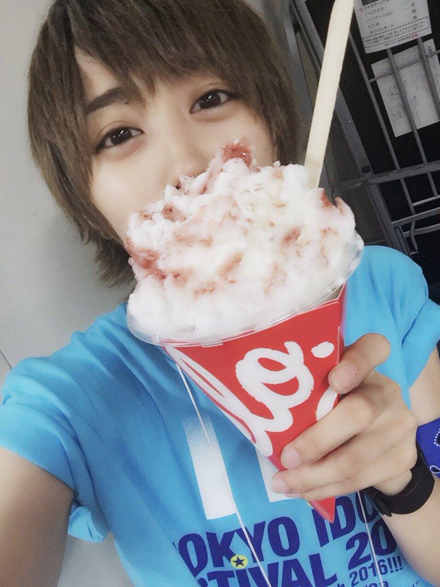 yeloのかき氷!おいしい〜!!! #風男塾 #TIF2016 #yelo