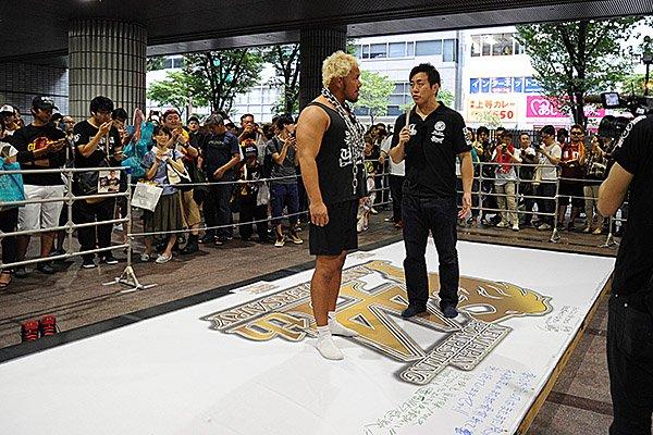 本日の『G1』大阪大会にて44周年イヤープロジェクト「あなたと新日本プロレスのタイムカプセル ~とも…