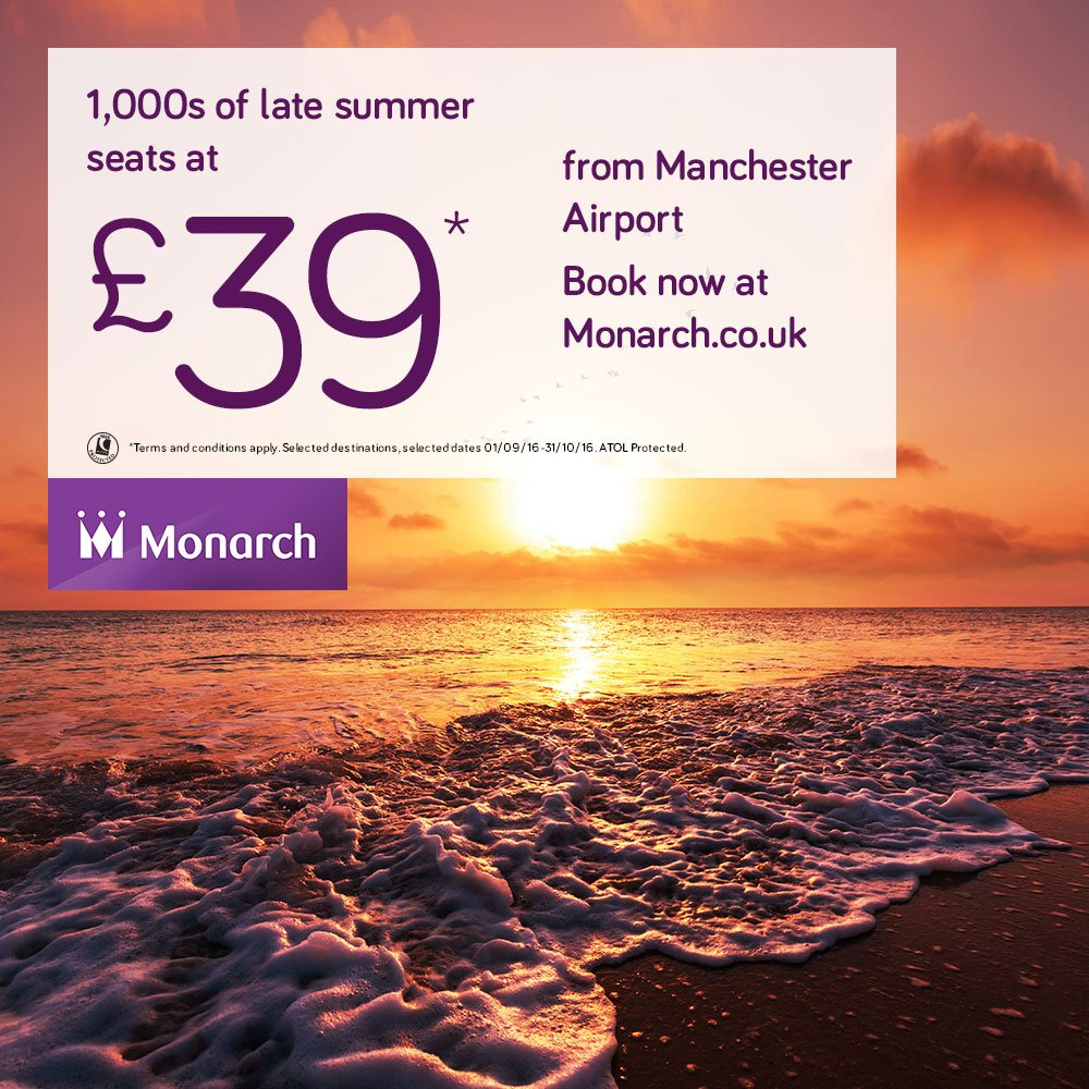 Whilst we have these amazingly low fares, book some Sept or Oct sunshine now at
